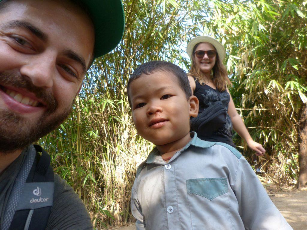 Selfie mit Junge